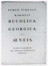 The title page of Baskerville's Virgil
