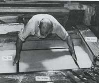 Forming the sheet of paper in the vat